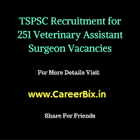 TSPSC Recruitment for 251 Veterinary Assistant Surgeon Vacancies