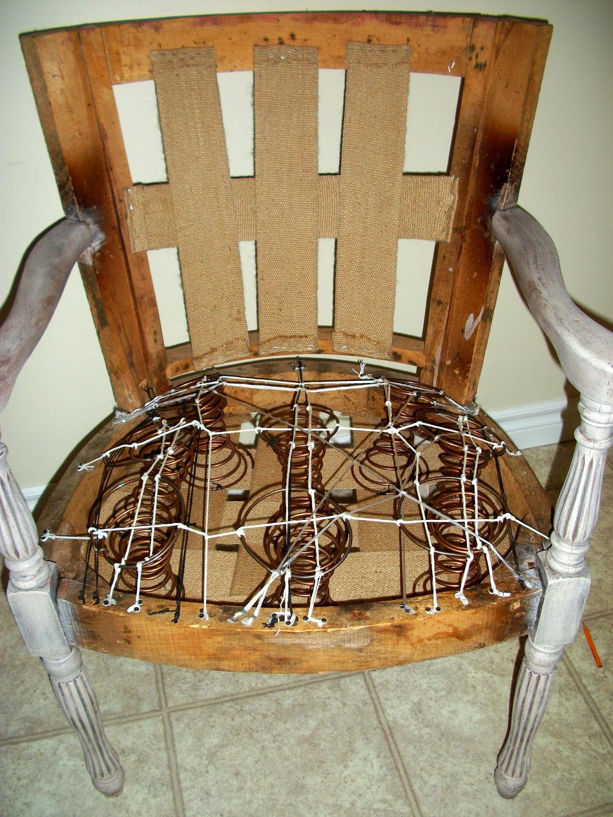 Spring Chair Fay Grayson Home First Time Coil Spring Tying Padding It Out