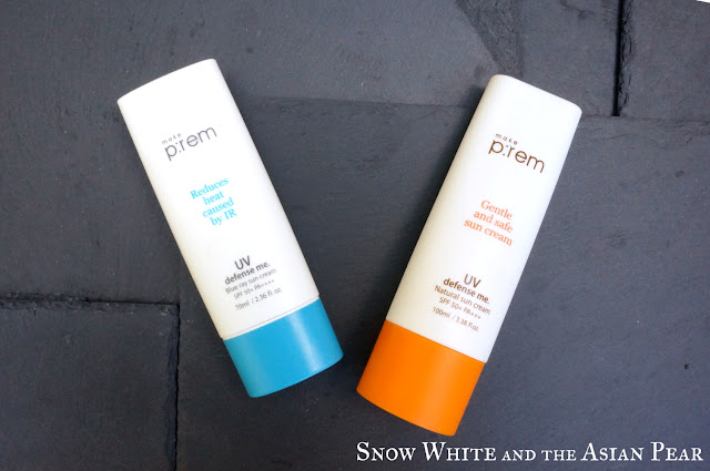 Make P:rem blue vs orange sunscreen versions