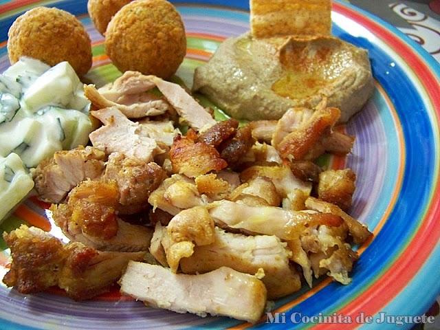 Pollo al Estilo Marroquí Para Kebab o Shawarma