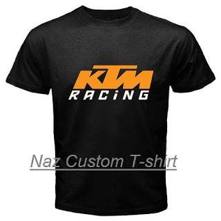 Naz custom t shirt ktm racing custom black t shirt for Racing t shirts custom
