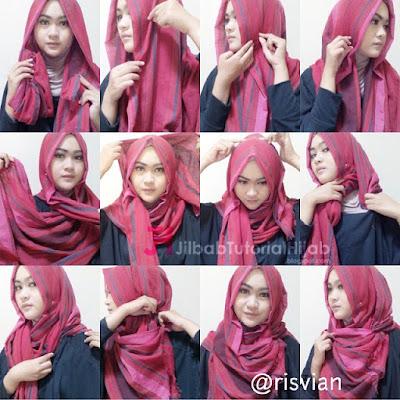 Tutorial Style Hijab Pashmina Simple Pesta Glamour Terbaru