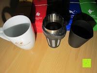 Tasse und Filter: Coffeepolitan Premium Geschenkset - Kaffee aus 5 Kontinenten mit Zubereitungsset - grob gemahlen 5 x 9 Portionen (5 x 9 x 7g); ideal auch als Geburtstagsgeschenk oder Probierset