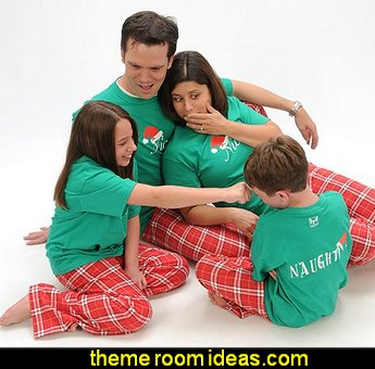 pajamas Naughty-Nice 2 Sided Chritmas Holiday Clothing Set