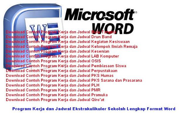 Download Contoh Program Kerja dan Jadwal Kegiatan Ekstrakulikuler di Sekolah Lengkap Format Word