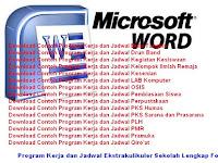 Contoh Program Kerja dan Jadwal Kegiatan Ekstrakulikuler di Sekolah Lengkap Format Word