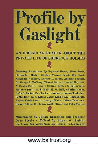 Front cover of Profile by Gaslight by Edgar W. Smith
