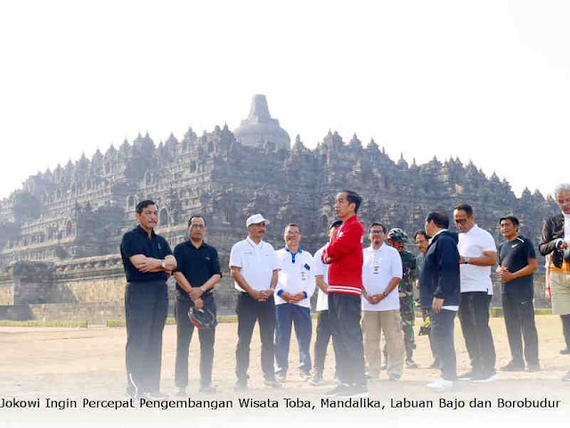 Jokowi Ingin Percepat Pengembangan Wisata Toba, Mandalika, Labuan Bajo dan Borobudur