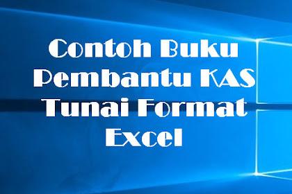 Contoh Buku Pembantu KAS Tunai Format Excel
