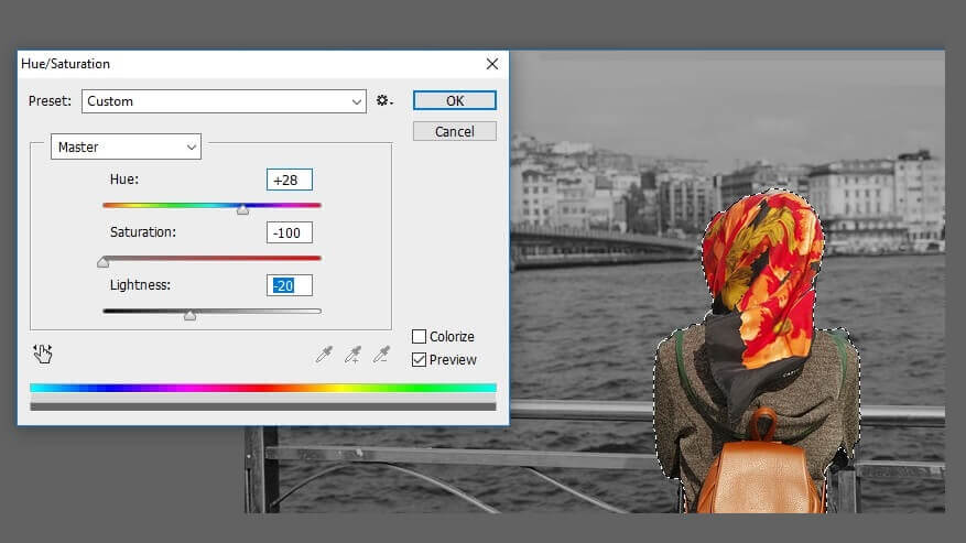 Ganti Saturasi Warna Foto Pada Object