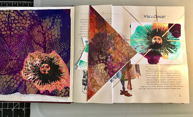 Inside page of my altered book