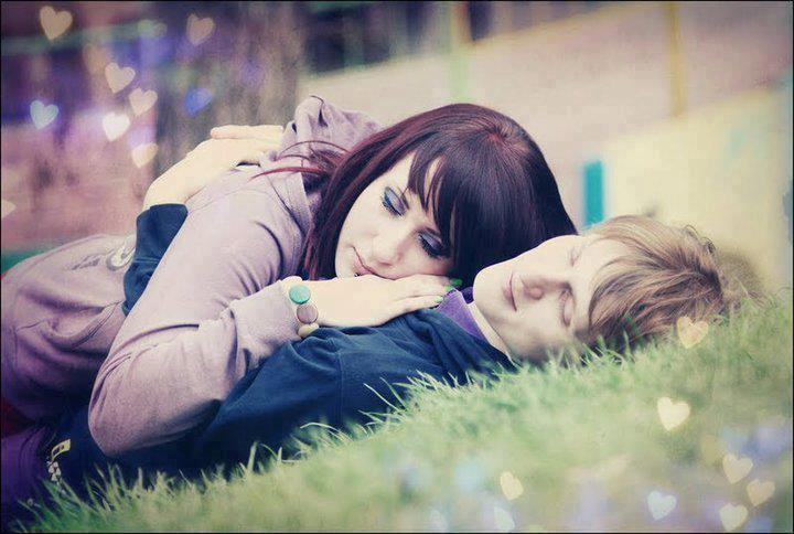 cute love couple hug