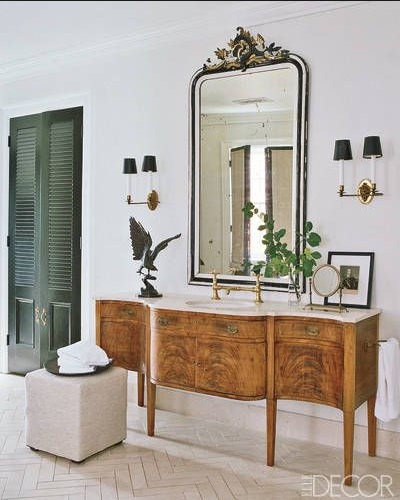 Rooms with chevron and herringbone floor ideas bathroom