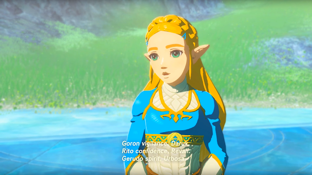 The Legend of Zelda Breath of the Wild Princess Zelda Champions' Ballad DLC memory cutscene