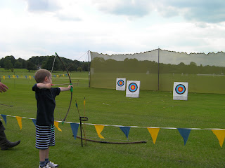 archery with targets at merchant taylors school