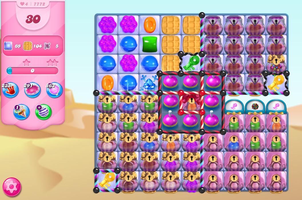 Candy Crush Saga level 7772