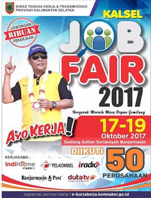 Wirausaha Binaan Disnakertrans Ramaikan Kalsel Job Fair 2017