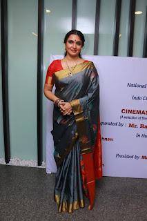Actress Sukanya Pictures in Saree at Cinemas of India showcase Inauguration  0003
