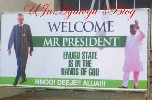 BREAKING News: See Photos and Video of Buhari's Arrival in Ebonyi as He Commences South-East Tour