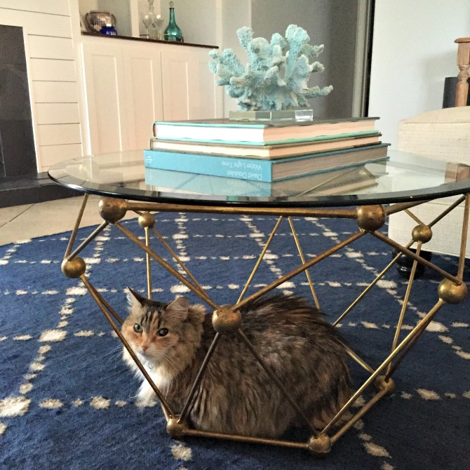 The Holland House: Gold Molecular Coffee Table