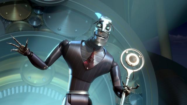 Render en 3D de la película Robots del personaje Ratcher
