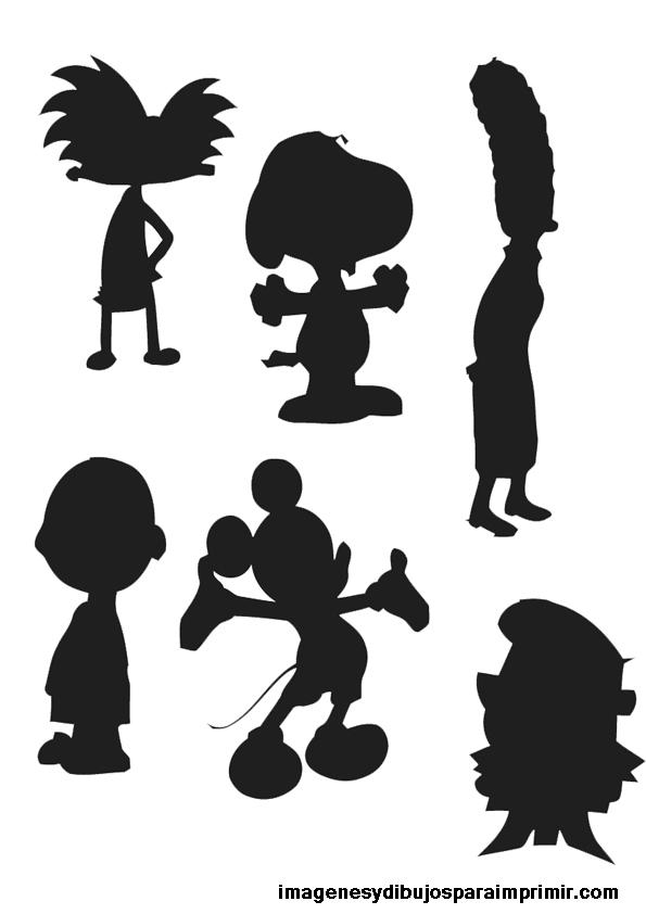 Siluetas dibujos animados para imprimir | Imagenes y dibujos para ...