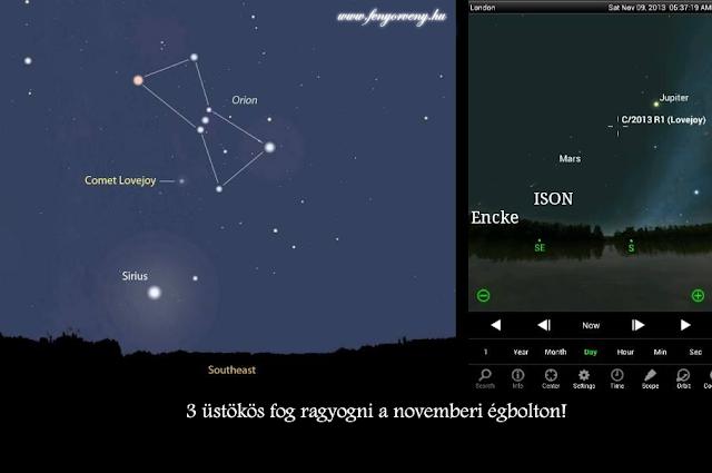 3 üstökös fog ragyogni a novemberi égbolton