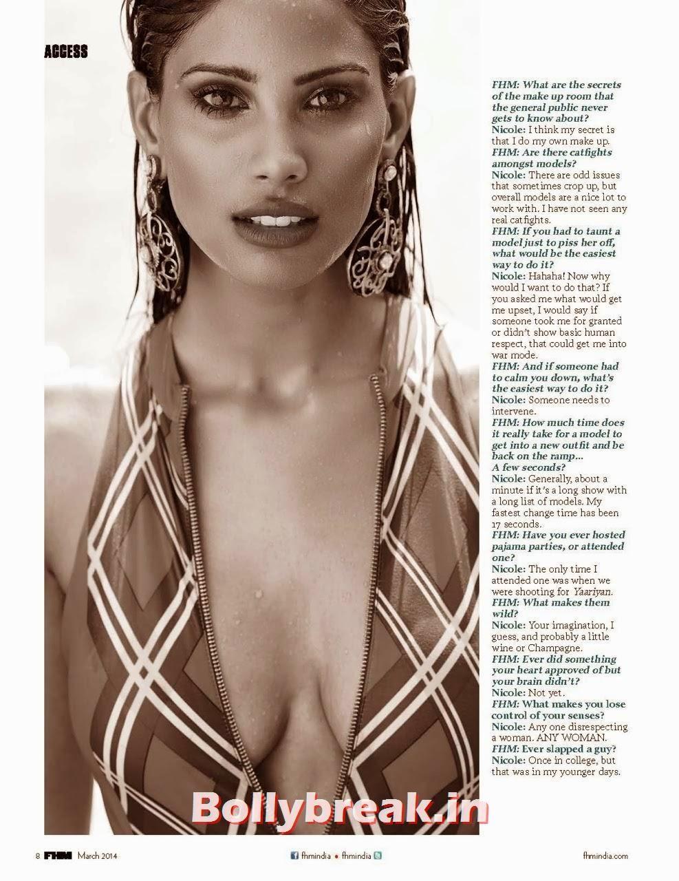 , Nicole Faria Bikini Pics from FHM Magazine - 2014