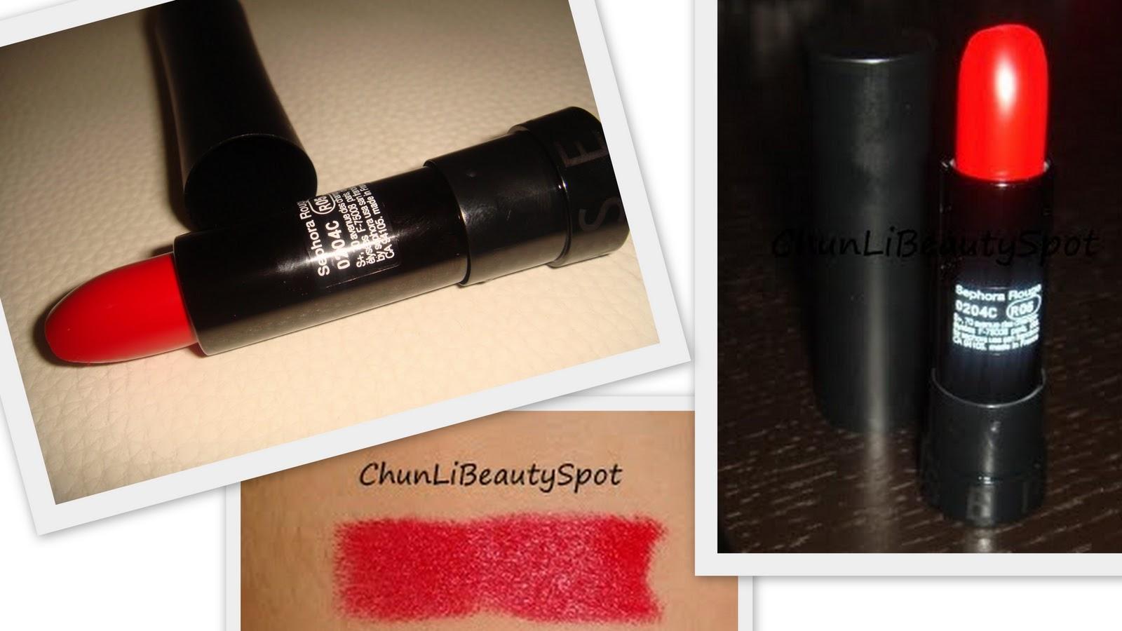 Sephora Hot Tango 05 Kırmızı Ruj Chunlibeauty