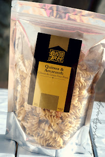 Quinoa and Amaranth Pasta Spirals - Gluten Grain Free Pasta