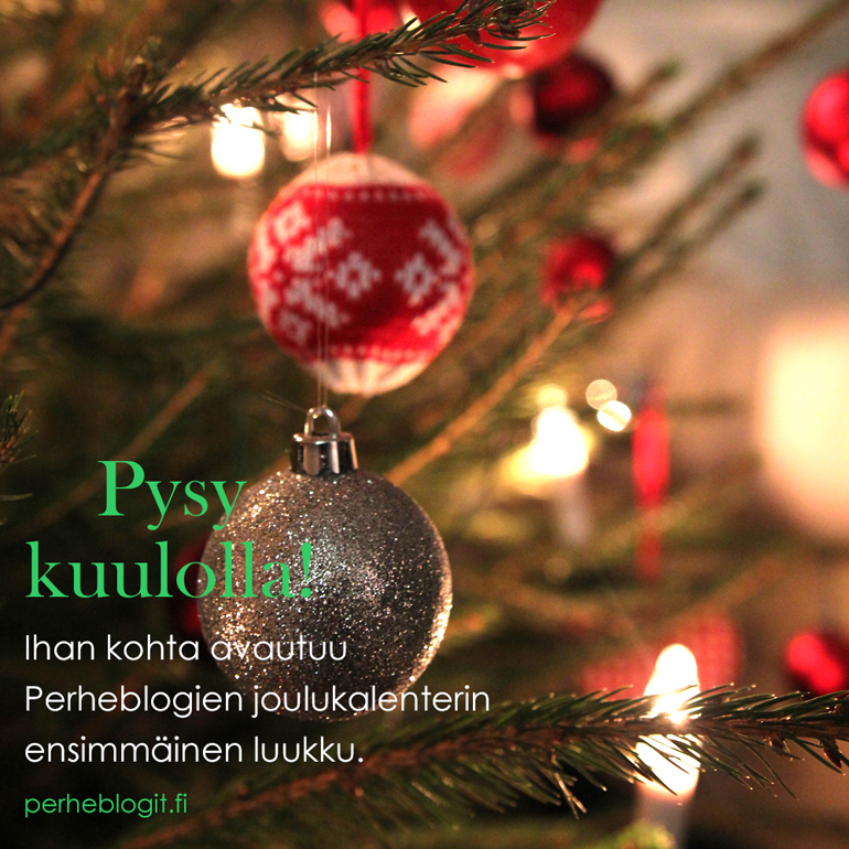 joulukalenteri joulu 2017 perheblogit insta instagram face facebook