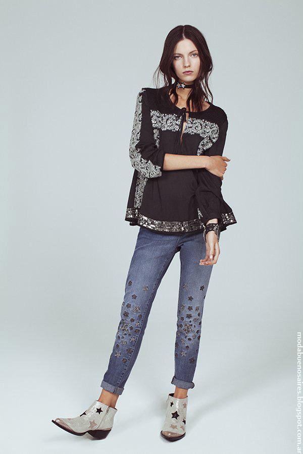 Moda jeans primavera verano 2017 Kosiuko.