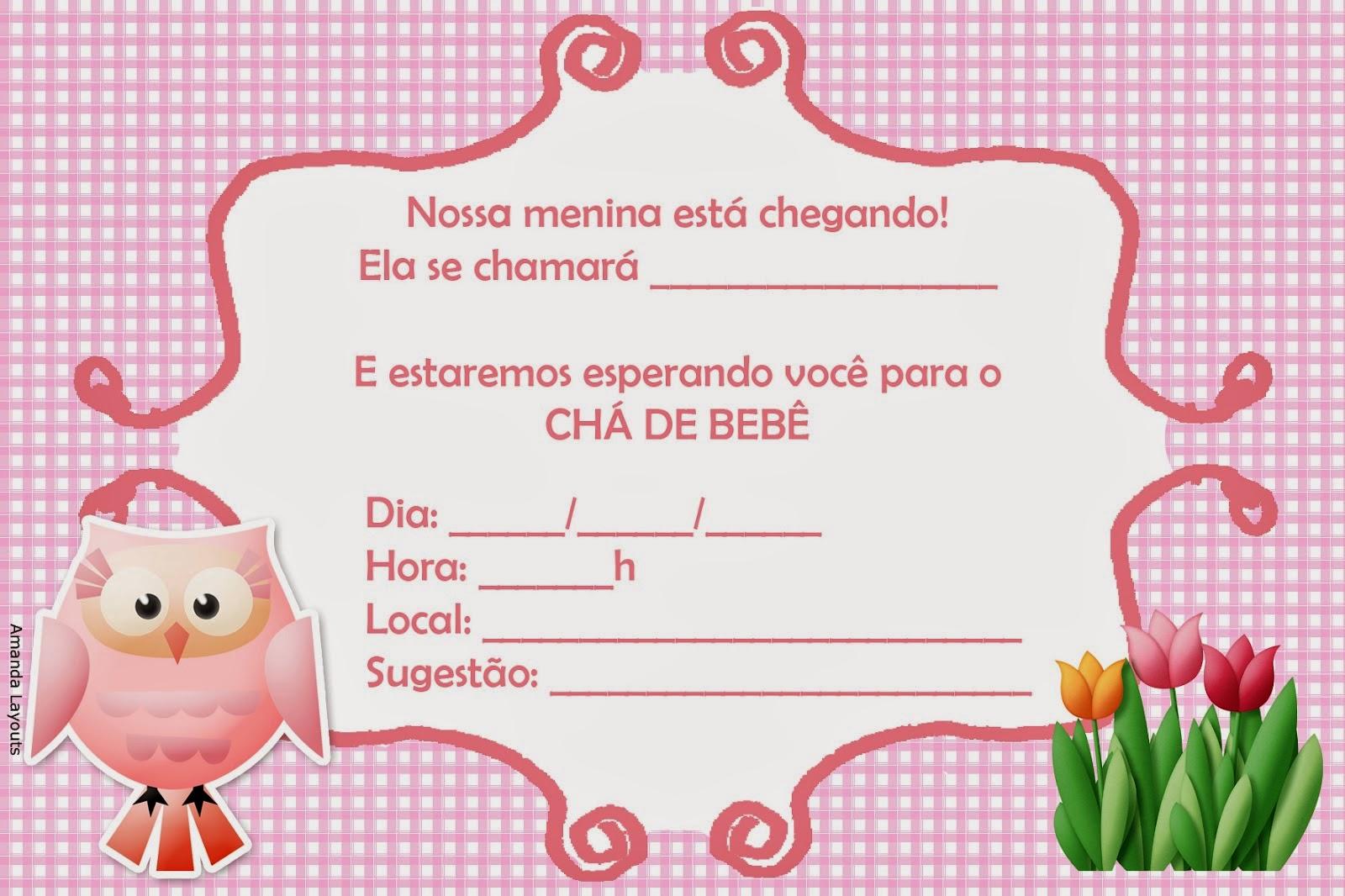 Convites De Chá De Bebê Para Imprimir - 64 Modelos