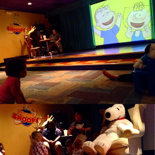 Story time at Castaway Bay with Snoopy