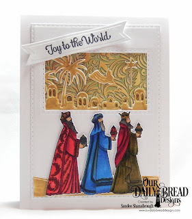 Our Daily Bread Designs Stamp/Die Duos: Great Joy, Custom Dies:  Bethlehem, Holy Night, Double Stitched Rectangles, Pennant Flags, Paper Collection: Christmas 2015