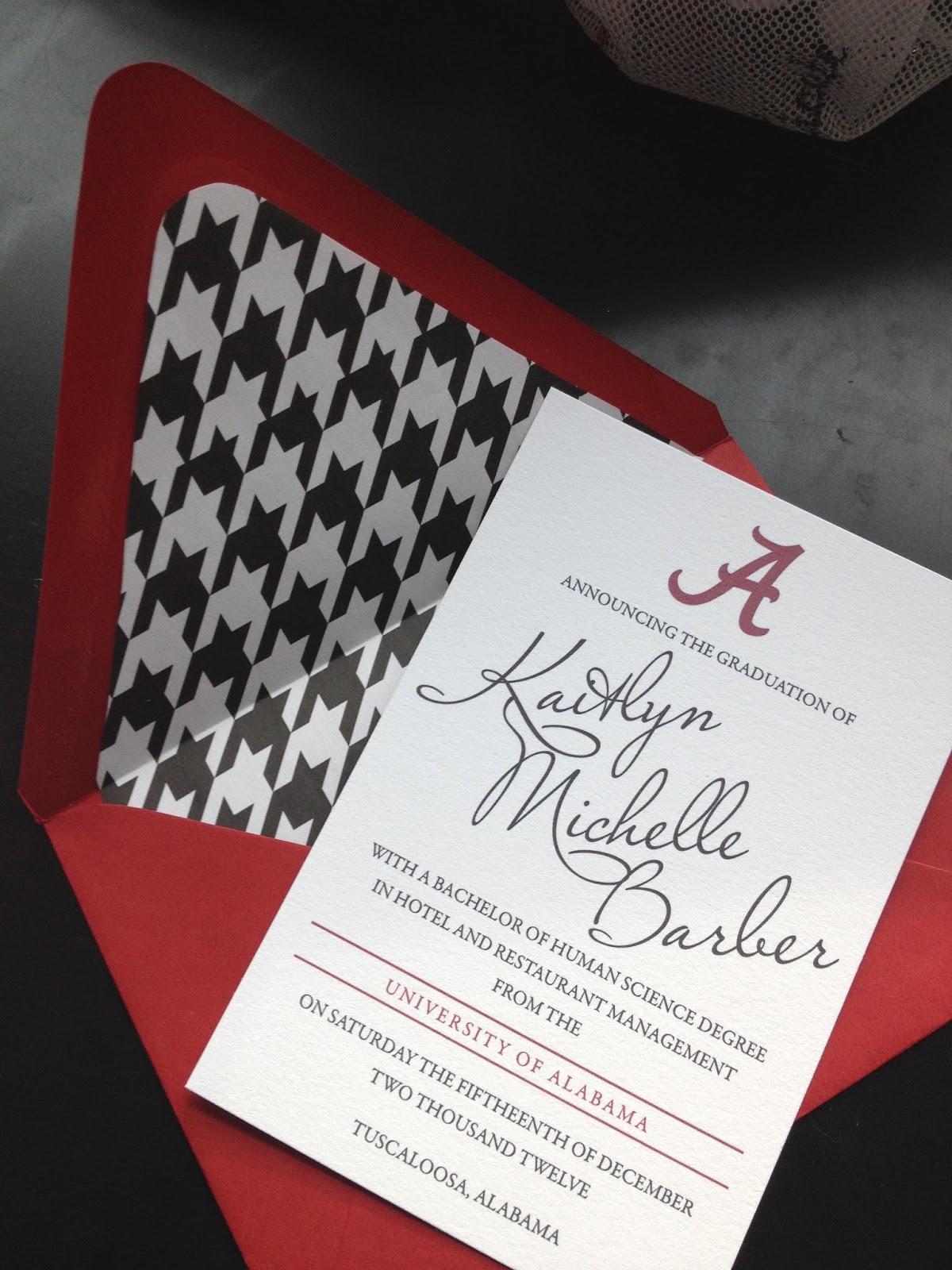 University Graduation Invitations