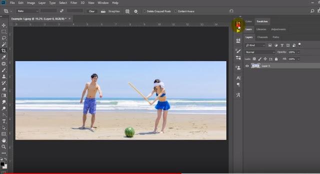 Cara Mengubah Foto Portrait Menjadi Landscape di Photoshop Tanpa Batas