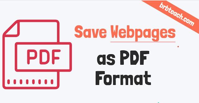 Save a Web Page as a PDF