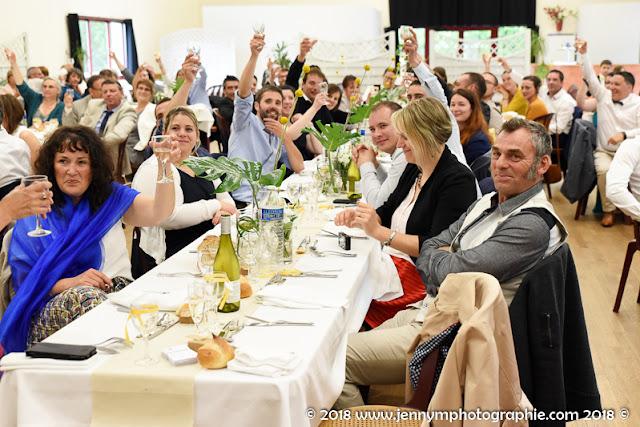 reportage photos repas mariage salle de la bretonnière boufféré