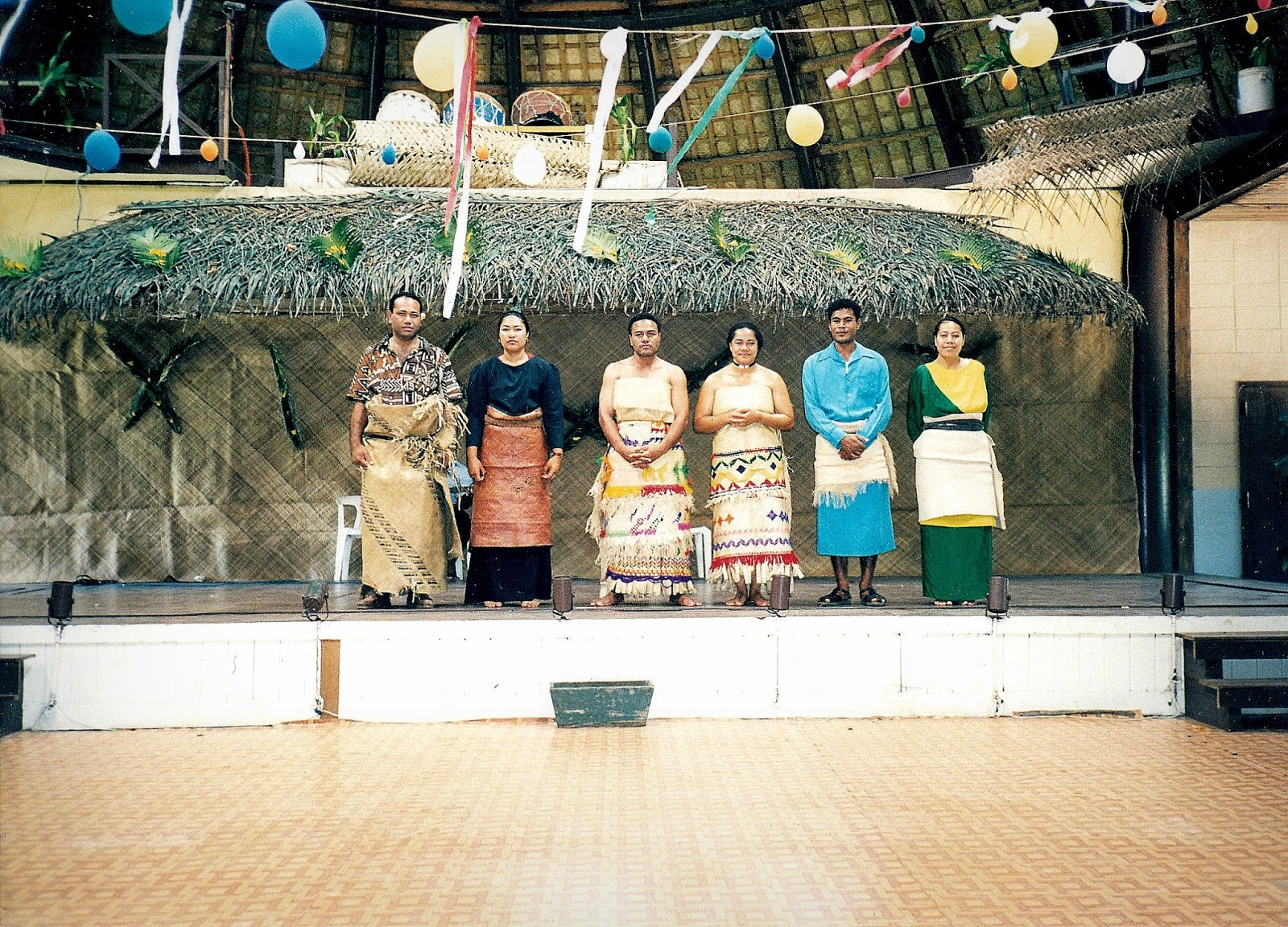 At this Tongan feast, there was also a fashion show!