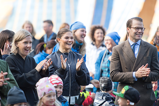 Crown Princess Victoria at 125th anniversary events of Swedish Outdoor Association held at Haga Copper Tents