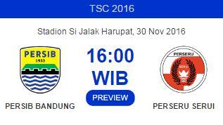 Prediksi Persib Bandung vs Perseru Serui - TSC Rabu 30 November 2016
