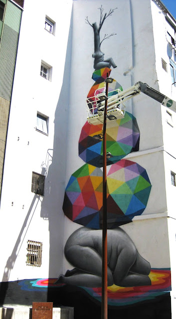 Street Art By Spanish Artist Okuda On The Streets Of Zaragoza, Spain. 2
