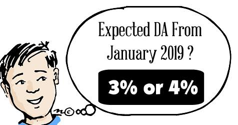 Expected DA From January 2019