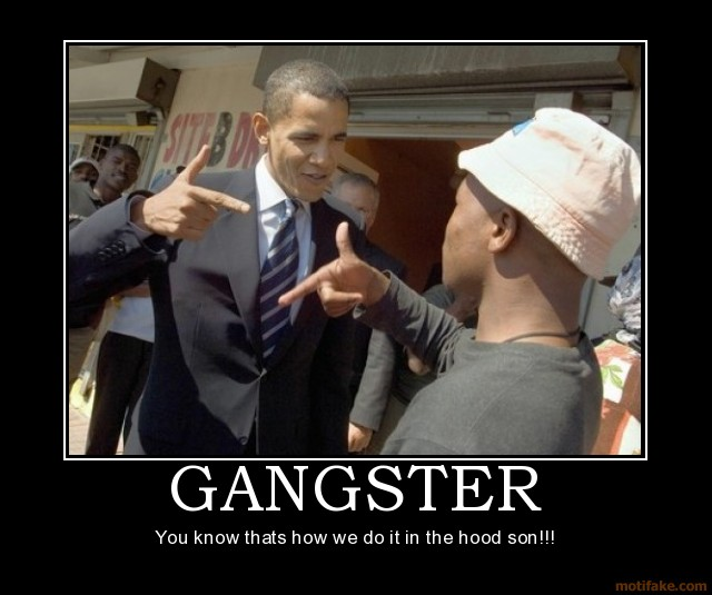 Image result for obama gangster