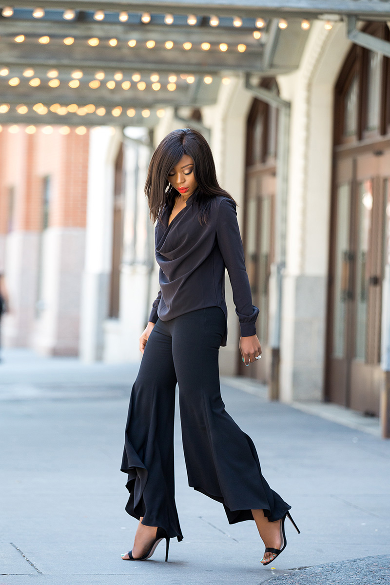 Golden age pants, zara flare pants, finders keepers street shirt, asos heels, www.jadore-fashion.com