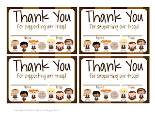 image relating to Girl Scout Cookie Thank You Note Printable called My Modern day Layouts: Female Scouts: Brownies Free of charge Printable