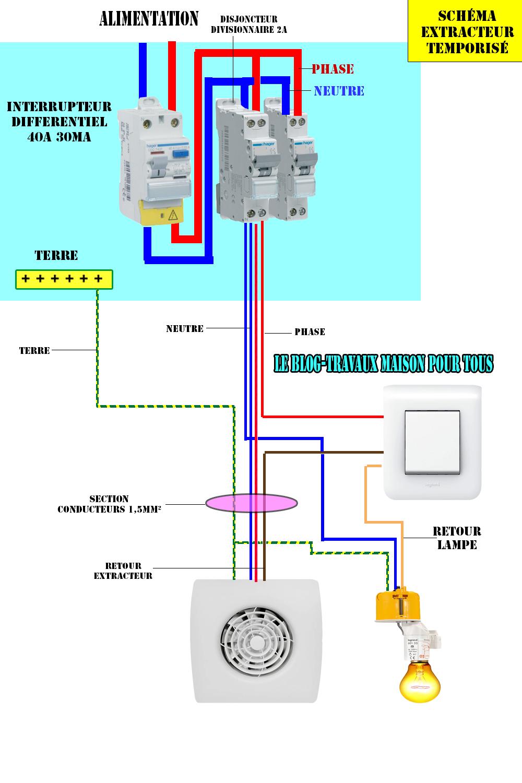 Schéma électrique d\'un extracteur temporisé - Le blog ...