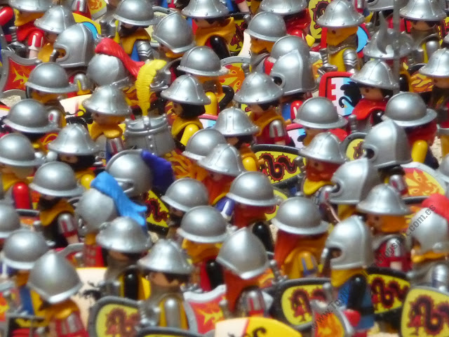 Diorama Playmobil medieval caballeros knights ritter