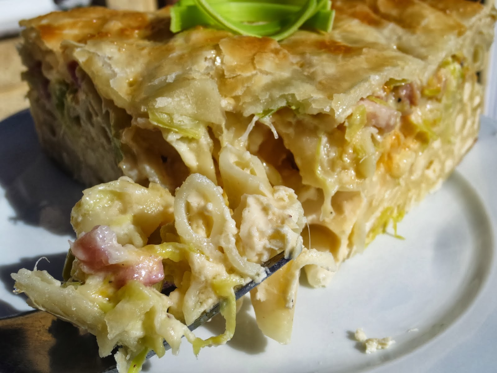Pastel de macarrones a la carbonara Ana Sevilla cocina tradicional